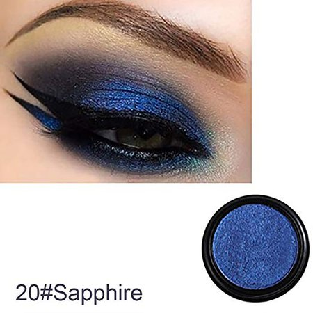 Amazon.com : Single Color Glitter Shimmering Eyeshadow Eye Shadow Makeup Cosmetic Beauty Tool size 22g (Sapphire) : Beauty
