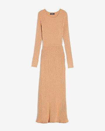 Ribbed Long Sleeve Maxi Sweater Dress | Express