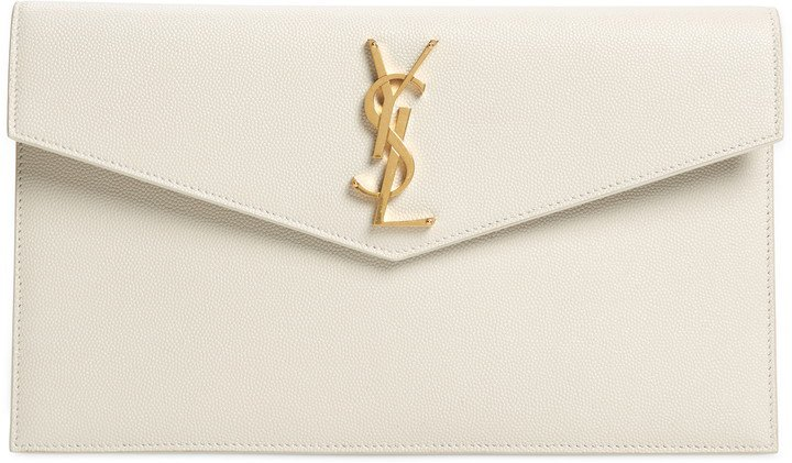 Uptown Calfskin Leather Envelope Clutch