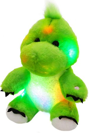 Amazon.com: Bstaofy LED Dinosaur Stuffed Animal Glow Green T-Rex Light Up Plush Toy Soft Adorable Gift for Kids Toddlers on Birthday Christmas, 11 Inches: Toys & Games