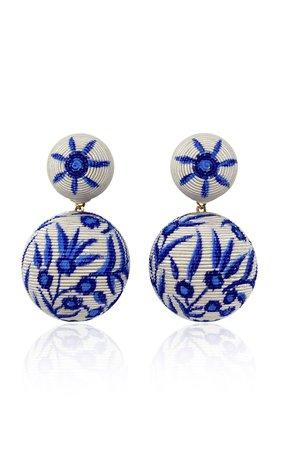 Gold-Tone And Silk-Cord Clip Earrings by Rebecca de Ravenel | Moda Operandi