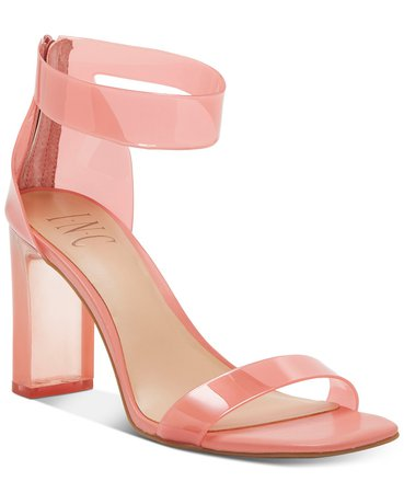 INC International Concepts INC Women's Makenna Two-Piece Dress Sandals, Created for Macy's & Reviews - Sandals & Flip Flops - Shoes - Macy's pink