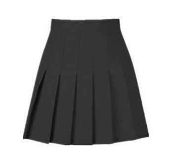 American School Style Fashion Women elegant half Pleated mini Skirt ($30)