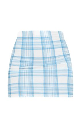 Baby Blue Check Mini Skirt | Skirts | PrettyLittleThing