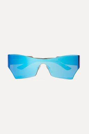 Blue Cat-eye acetate mirrored sunglasses   Balenciaga   NET-A-PORTER