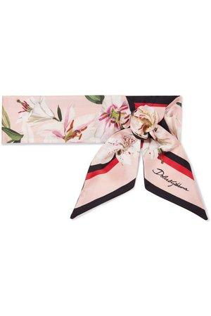 Dolce & Gabbana   Printed silk-twill scarf   NET-A-PORTER.COM