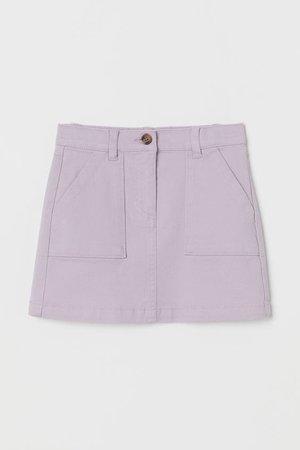 Cotton Twill Skirt - Light purple - Kids | H&M US
