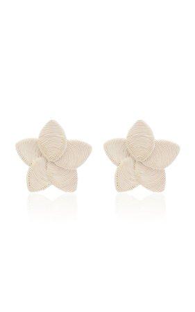 Frangipani Corded Silk-Blend Earrings by Rebecca de Ravenel | Moda Operandi