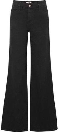 Le Palazzo High-rise Wide-leg Jeans - Black