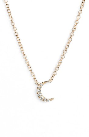 EF COLLECTION Mini Moon Diamond Choker Necklace | Nordstrom
