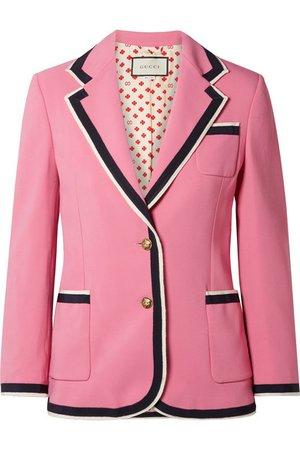 Gucci | Grosgrain-trimmed cady blazer | NET-A-PORTER.COM