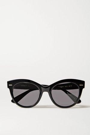 Black + Oliver Peoples Georgica round-frame acetate sunglasses   The Row   NET-A-PORTER