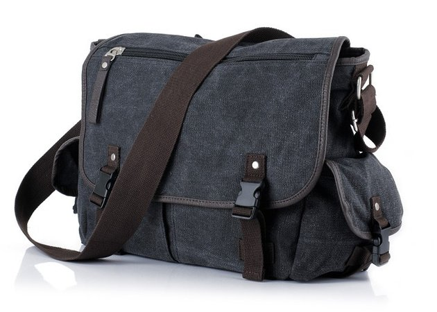 black canvas mens shoulder bag TowliTa