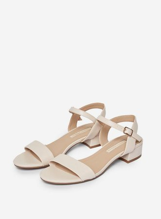 Wide Fit Nude 'Sprightly' Sandals | Dorothy Perkins