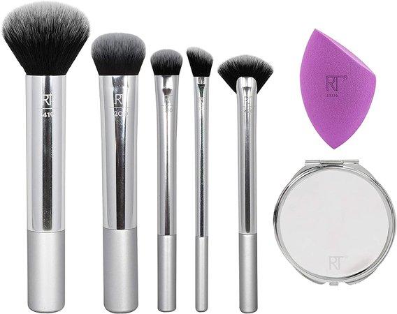 Real Techniques Christmas Eye Makeup Brush Gift Set, Metallic Eye Gift Set, Holiday Stocking Stuffer, 4 Brushes: Amazon.com.mx: Salud y Cuidado Personal