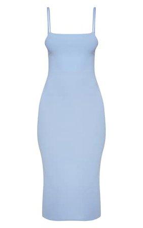 Baby Blue Strappy Midi Dress | Dresses | PrettyLittleThing USA