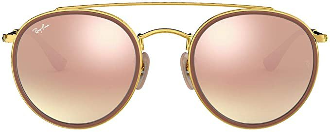 Amazon.com: Ray-Ban RB3647N Double Bridge Round Sunglasses, Gold/Copper Gradient Flash, 51 mm: Ray-Ban: Shoes