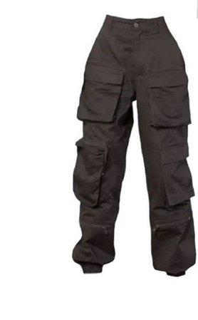 brown black cargo pants
