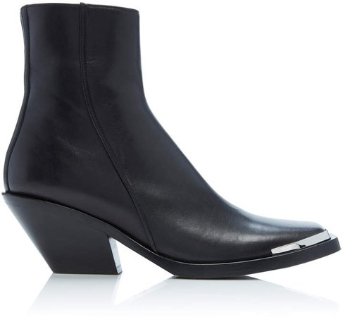 Braxton Leather Ankle Boots