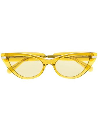 Viktor & Rolf yellow cat-eye glasses yellow VR15 - Farfetch