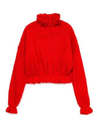 フリルカラーニット(トップス/ニット)|BUBBLES(バブルス)の通販|ファッションウォーカー