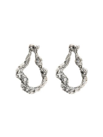 By Alona Silver-Plated Diana Crystal-Embellished Earrings DIANAEARRINGS | Farfetch