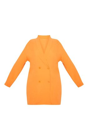 Plus Orange Oversized Blazer Dress | PrettyLittleThing USA