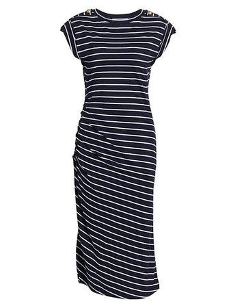 Derek Lam 10 Crosby Marion Ruched T-Shirt Dress   SaksFifthAvenue
