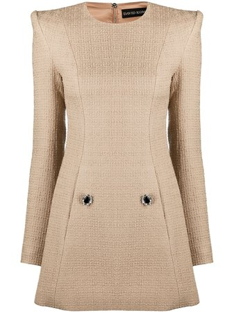 Shop David Koma knitted dress with Express Delivery - Farfetch