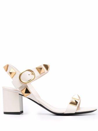 Valentino Garavani Roman Stud Leather Sandals - Farfetch