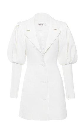 Clothing : Jackets : 'Saint Jean' White Puff Sleeve Blazer Dress
