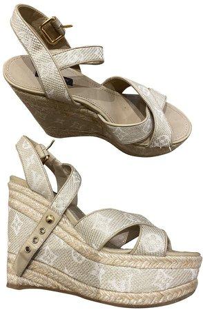 Ecru Cloth Sandals