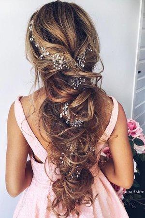 floral bride hair