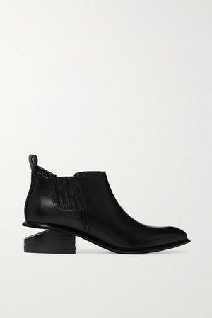Kori Cutout Leather Chelsea Boots - Black