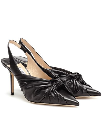 Annabell 85 leather slingback pumps