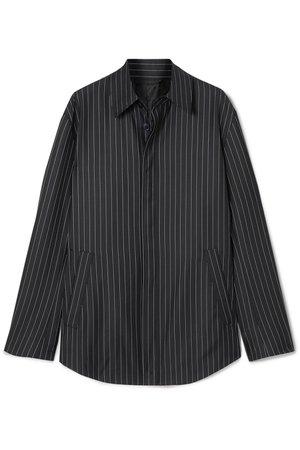 Balenciaga | Pinstriped wool and cashmere-blend shirt | NET-A-PORTER.COM