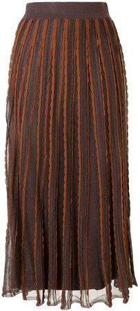 Zea scalloped knit skirt