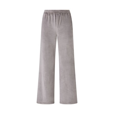 Velour Wide Leg Pant - Smoke   SKIMS