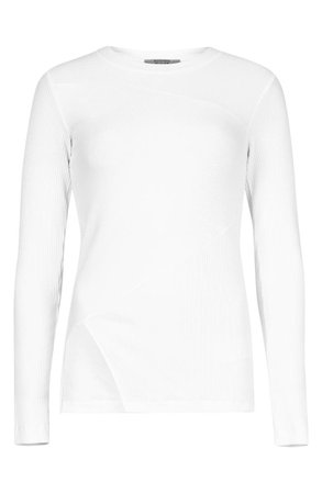 ALLSAINTS Gia Long Sleeve Ribbed Knit Top | Nordstrom