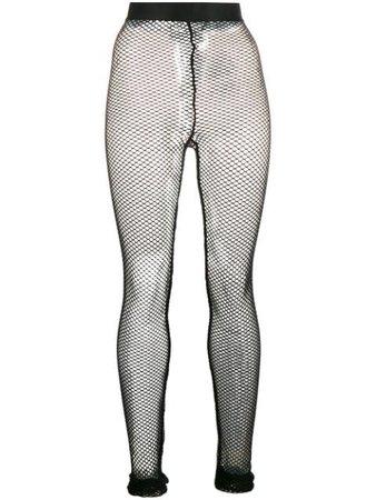 Ann Demeulemeester high-waisted fishnet leggings black 20012480220 - Farfetch