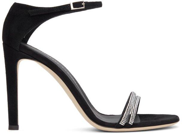 Black Kanda Heeled Sandals