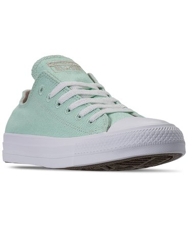 Converse Women's Chuck Taylor All Star Renew Low Top Casual Sneakers from Finish Line & Reviews - Finish Line Athletic Sneakers - Shoes - Macy's green