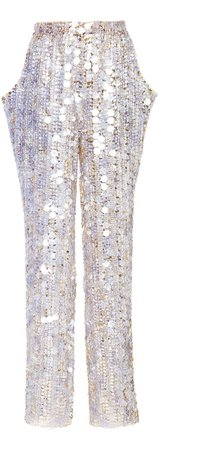 Aliétte Metallic Silk Embroidered Trouser Size: 0