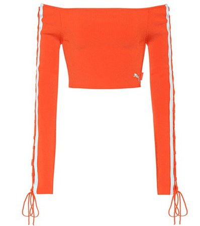 Knitted off-the-shoulder top