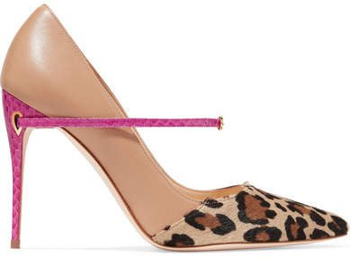 Jennifer Chamandi - Lorenzo 105 Leopard-print Calf Hair And Leather Pumps - Leopard print