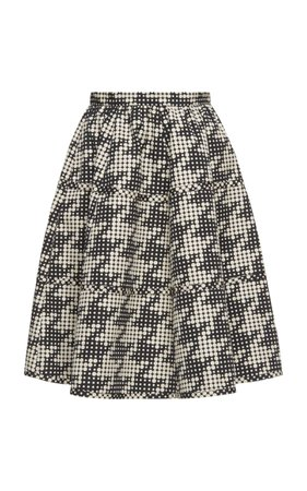Houndstooth A-line skirt by Bottega Veneta | Moda Operandi