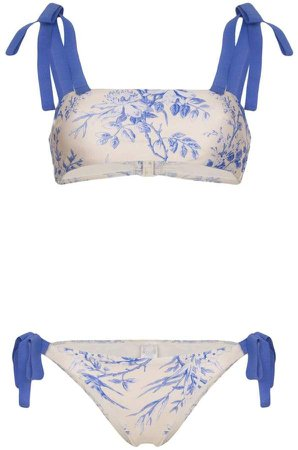 Verity floral-print bikini