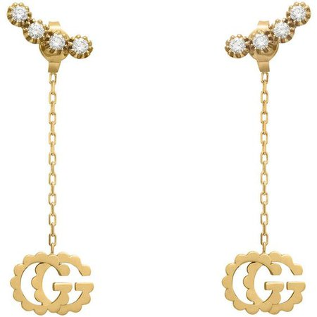 Gucci Double G Earrings With Diamonds