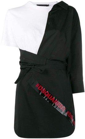 dress white black red