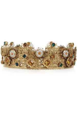 Dolce & Gabbana | Gold-plated Swarovski crystal crown | NET-A-PORTER.COM